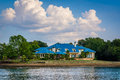 House on the shore of Lake Norman, in Cornelius, North Carolina. Royalty Free Stock Photo