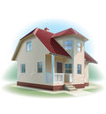 House with siding trim detailed illustration vector for best prints and other uses Royalty Free Stock Photography