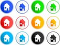House sign icons Royalty Free Stock Images