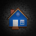 House on social  background Royalty Free Stock Photo