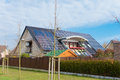 House with solar panels Royalty Free Stock Photo