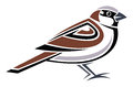 House sparrow stylized vector illustration Stock Image