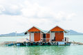 House on stilts over the sea at thailand Stock Photography