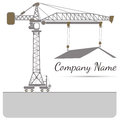 House tower crane icon Vector illustration Abstract background Royalty Free Stock Photo