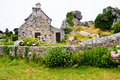 House in traditional style in brittany old stone country france Stock Photo