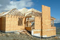 House Under Construction Framing Royalty Free Stock Photo