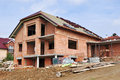 House under construction new made of bricks Royalty Free Stock Photography