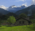 House in the valley of Aisa, Huesca Royalty Free Stock Photography