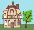 House vector hand line drawn Royalty Free Stock Photo