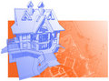 House: vector technical draw Royalty Free Stock Images