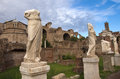 House of the vestal virgins in roman forum Royalty Free Stock Photo