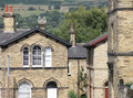 House and view architecture at saltaire near bradford west yorkshire Royalty Free Stock Photography