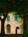 A House in the Village of Montepulciano, Tuscany Stock Images