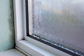 House Window With Damp And Condensation Royalty Free Stock Photo