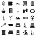House work icons set, simple style