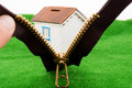 House through a zipper Royalty Free Stock Photo