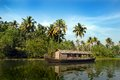 Houseboat in Kerala Royalty Free Stock Photos