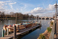 Houseboat at Kingston Bridge Stock Photography