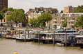 Houseboats, Chelsea Reach Royalty Free Stock Photography