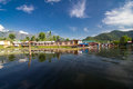 Houseboats in dal lake at srinagar jammu kashmir Royalty Free Stock Image