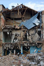 Housebreaking, demolition of buiding Royalty Free Stock Photo