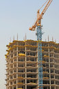 Housebuilding and crane Stock Images