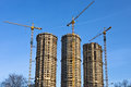 Housebuilding panorama Royalty Free Stock Photo