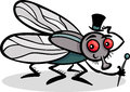 Housefly insect cartoon illustration Royalty Free Stock Photos