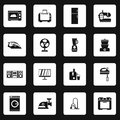 Household appliance icons set, simple style Royalty Free Stock Photo