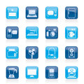 Household appliances and electronics icons vector icon set Stock Photos