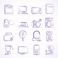 Household appliances and electronics icons vector icon set Stock Images