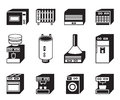 Household appliances icon set vector illustration Royalty Free Stock Photos