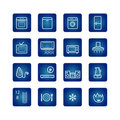 Household appliances icons set Royalty Free Stock Image