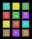 Household appliances icons set of color vector eps illustration Royalty Free Stock Photo