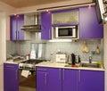 Household appliances in modern kitchen Royalty Free Stock Photos