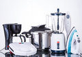 Household appliances  on a neutral background Royalty Free Stock Photo