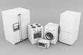 Household appliances picture of on a gray background Royalty Free Stock Photos
