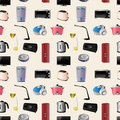 Household appliances seamless pattern Stock Photos