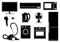Household appliances set of shapes of Stock Photo