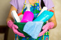 Household chemicals. The means for cleaning the house Royalty Free Stock Photo