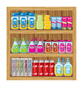 Household chemicals set of Stock Image