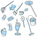 Household cleaning items an image of Royalty Free Stock Photo