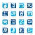 Household Gas Appliances icons Stock Photo