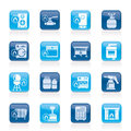 Household Gas Appliances icons Royalty Free Stock Photos