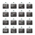 Household gas appliances icons vector icon set Royalty Free Stock Photos