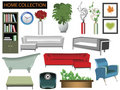 Household items collection Stock Images