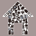 Household items home appliances for house Royalty Free Stock Photography