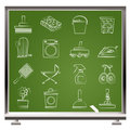 Household objects and tools icons Stock Photography