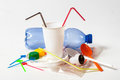 Household plastic waste Royalty Free Stock Photo