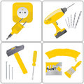 Household repair and tool work Royalty Free Stock Image